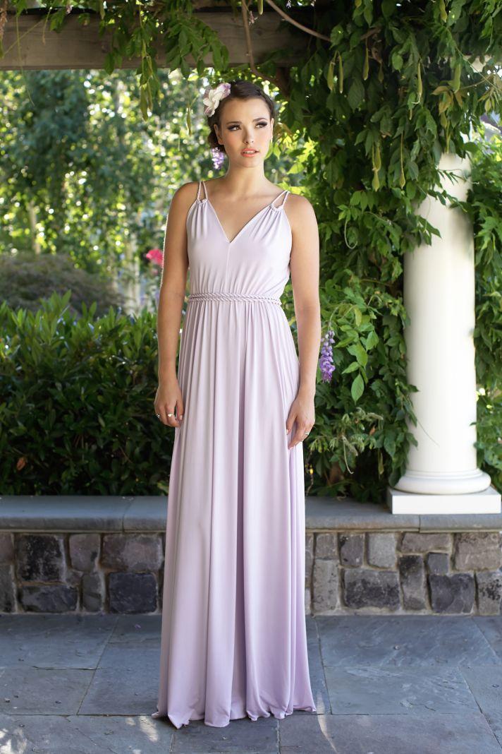 Light purple bridesmaids dress
