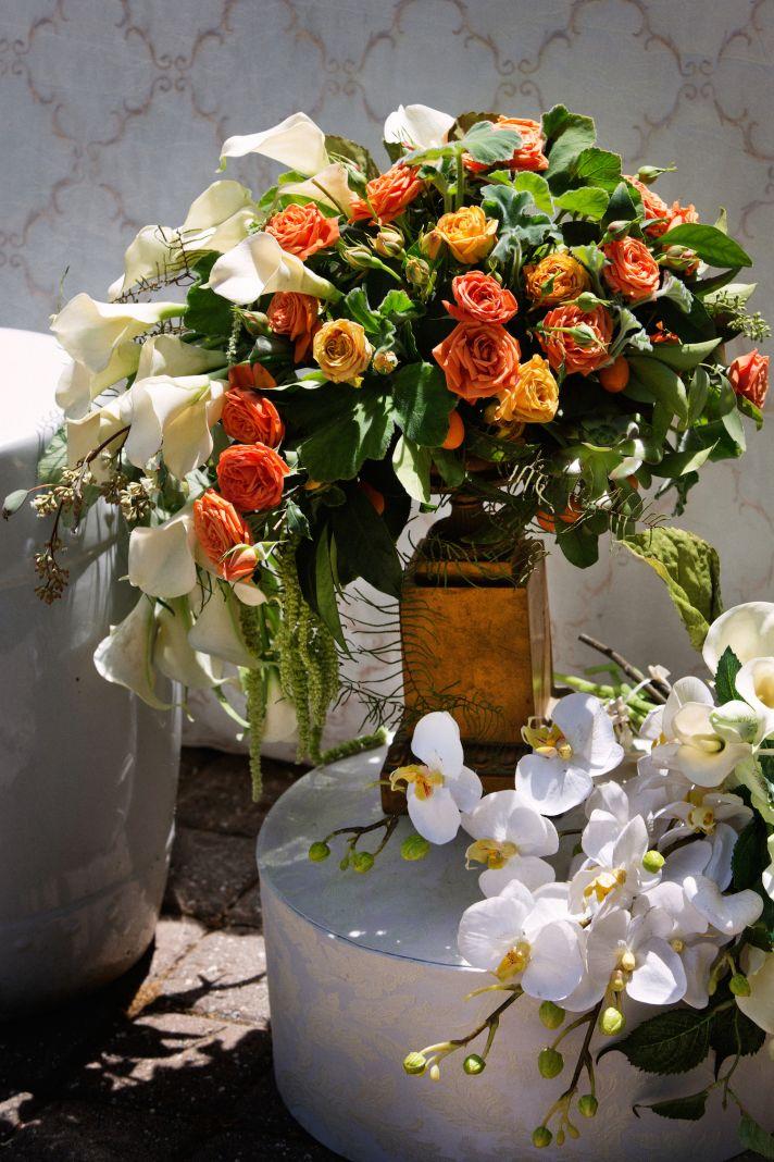 Wine country wedding flowers