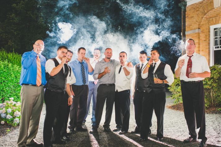 Groomsmen with Cigars