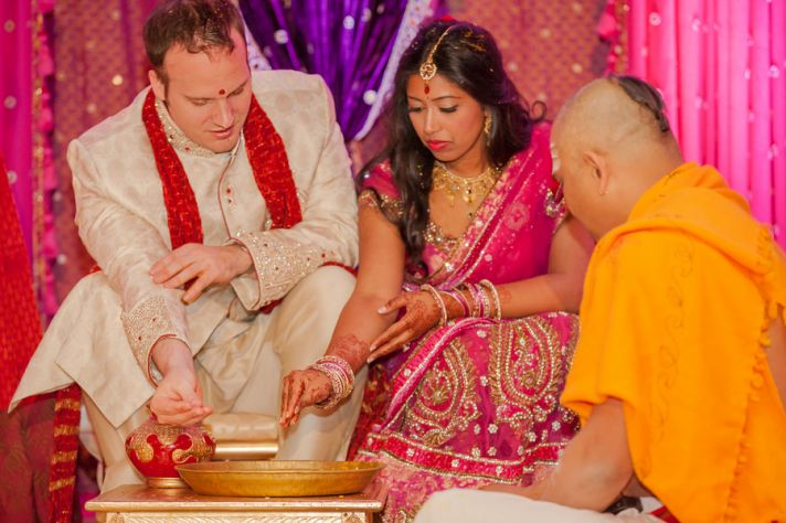 Bride and Groom in South Asian Ceremony