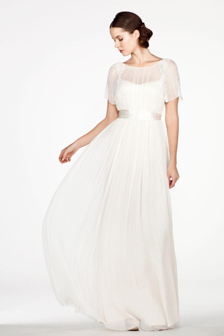 Ethereal Wedding Dresses 85 Luxury Draped Dress with Illusion