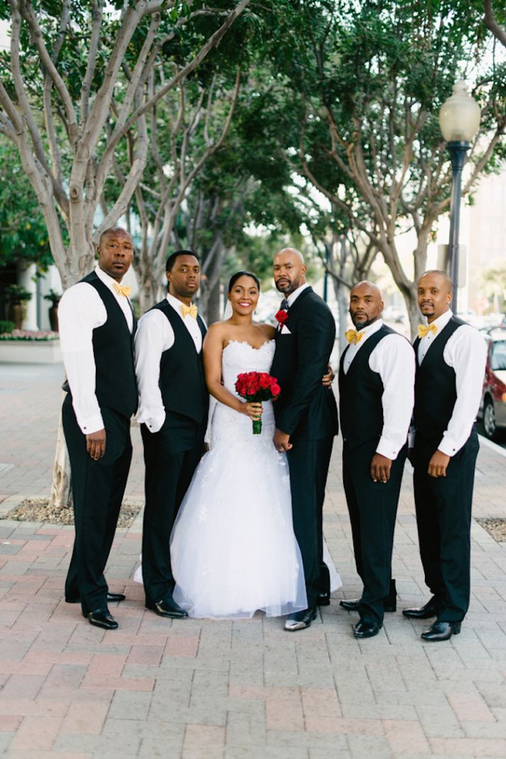 Bride and Groom and the Boys