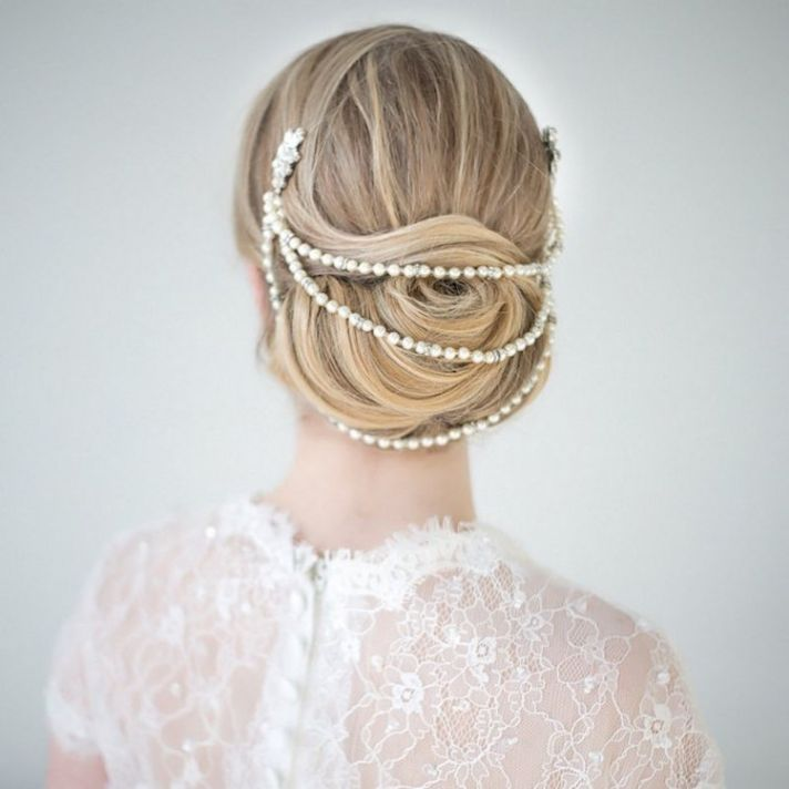 Pearls in Wedding Hair