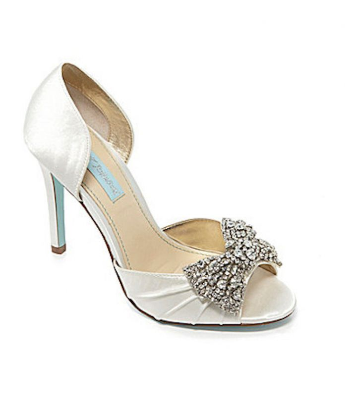 Bridal Shoes with Blingy Bow