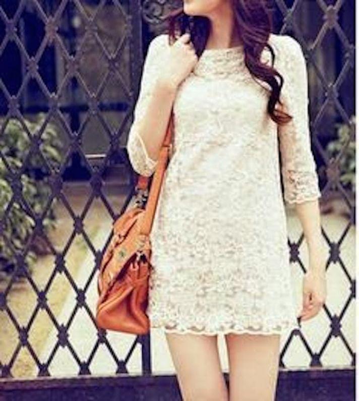 Cotton Lace Short Wedding Dress
