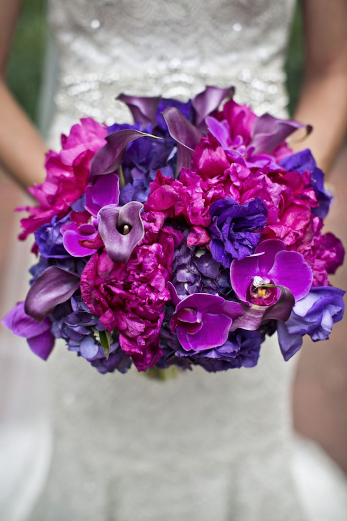 Vibrant Pink and Purple Bouquet