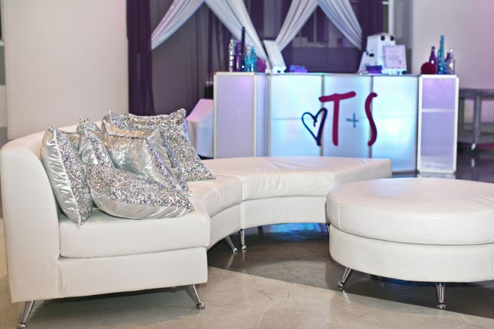 Lounge Area with Sparkle Pillows