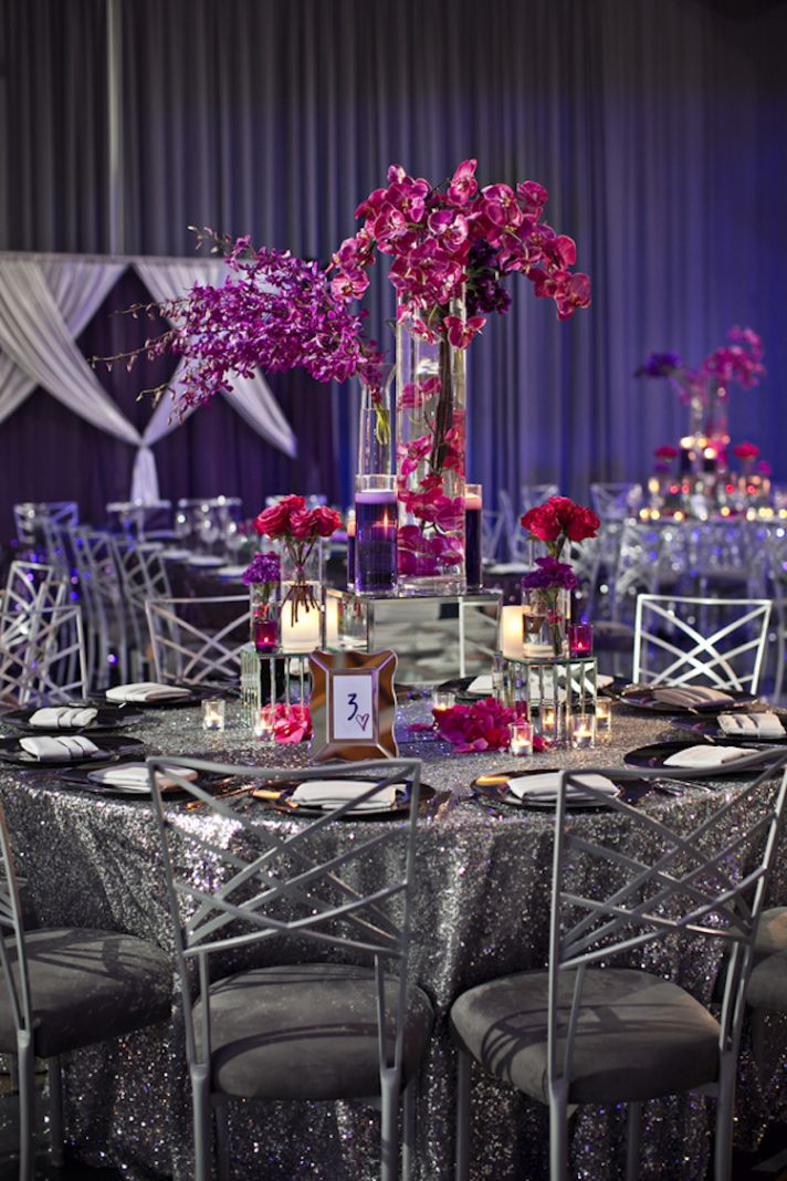 Modern real wedding with tons of sparkle onewed