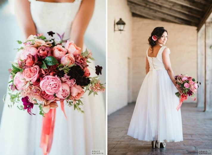 Perfect Bridal Bouquet in Shades of Pink