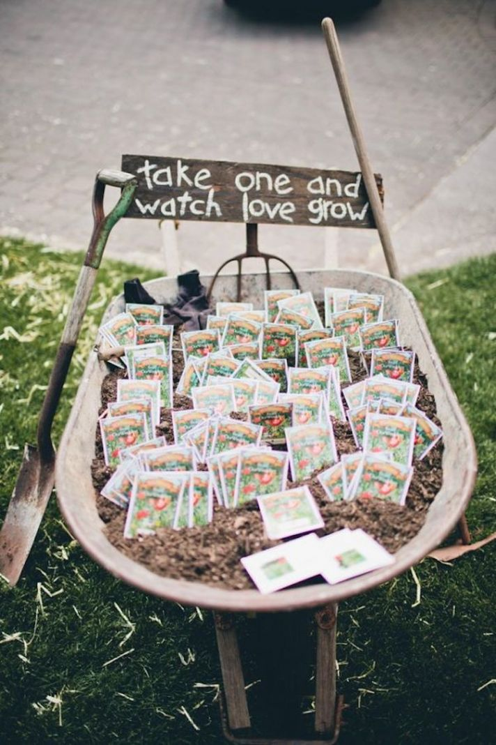 Rustic Flower Seed Favors
