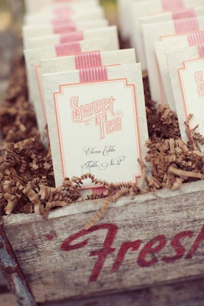 Sweet Tea Bag Wedding Favors
