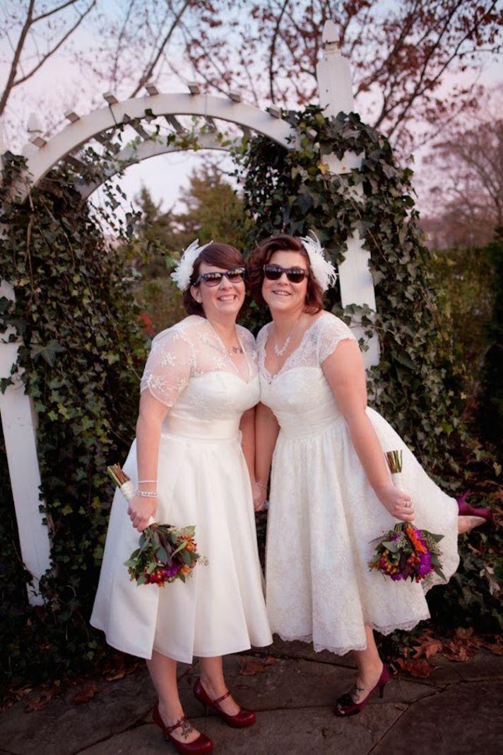 Vintage Inspired Bride Attire