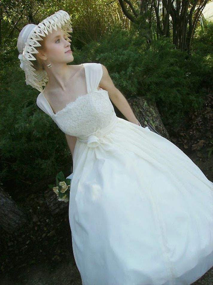 Vintage 1950s Wedding Dress 86 Lovely s Wedding Gown with