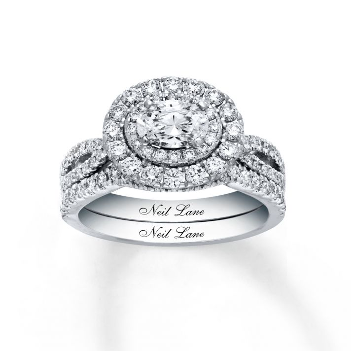 gorgeous diamond engagement ring with east to west setting and double halo from jared - Wedding Rings Jared