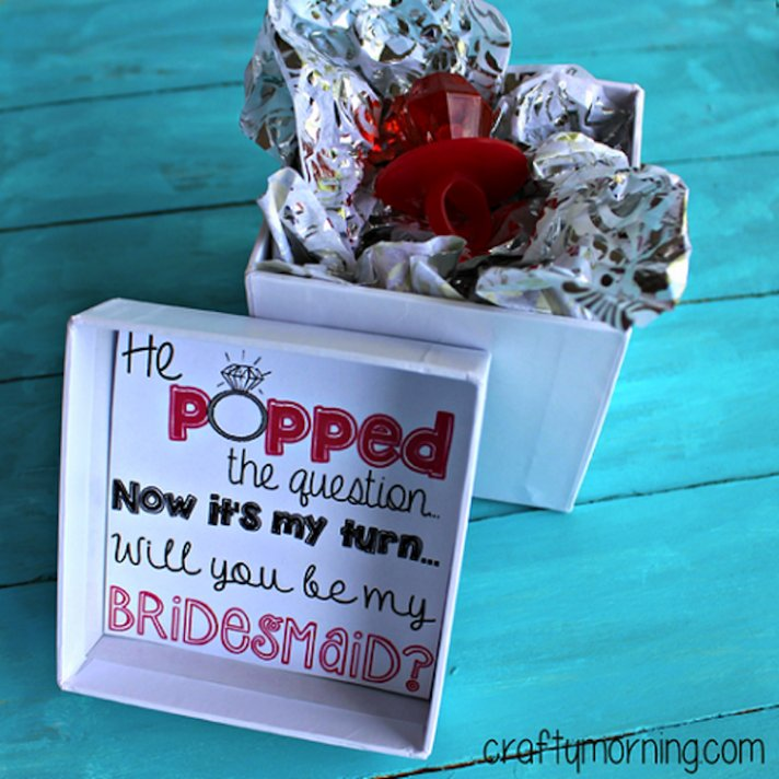 Ask Your Bridesmaid With A Ring Pop