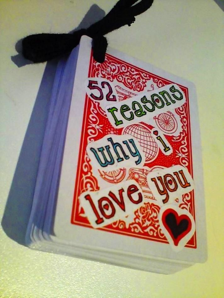 Wedding Gift For Quest : gift for the groom - 52 reasons for love