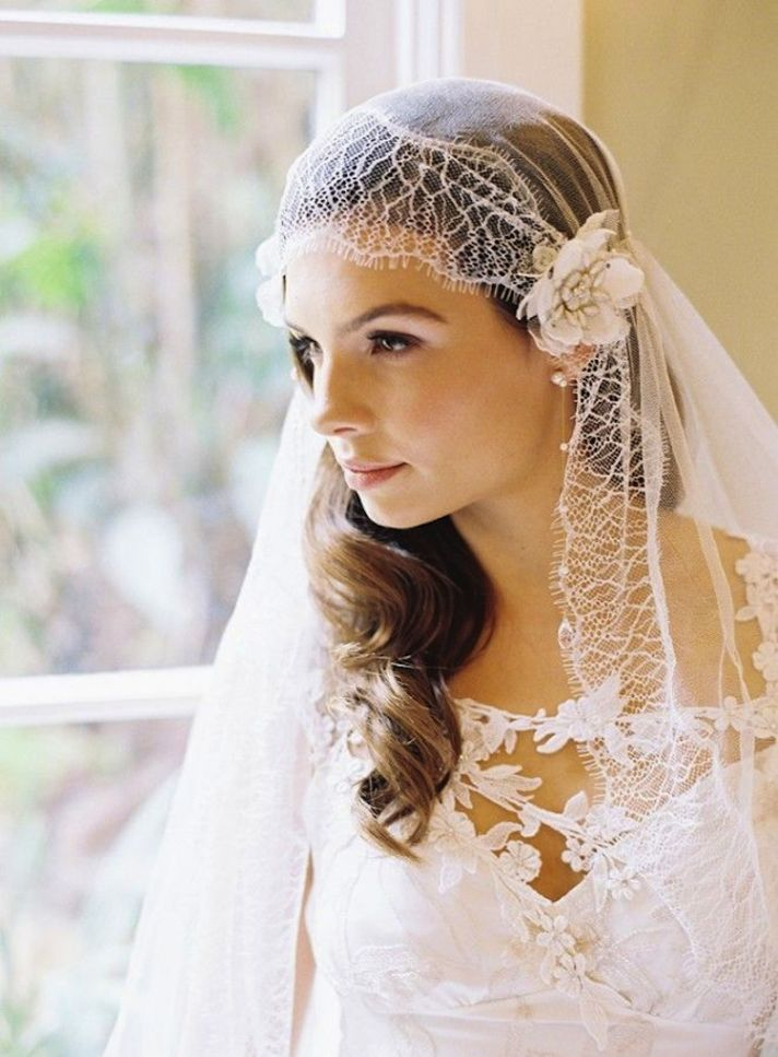 gorgeous cap veil  full - Kate Wedding Day