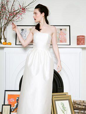 Simple silhouettes wedding dress style tulip onewed for Tulip wedding dress style