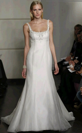 Badgley mischka bride wedding dress style chloe onewed for Petite wedding dress designers