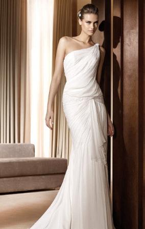 Платье в греческом стиле тип русалка.